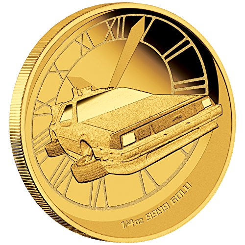 - 2015 Tuvalu Back to The Future Time Machine Proof Coin Gold Brilliant Uncirculated
