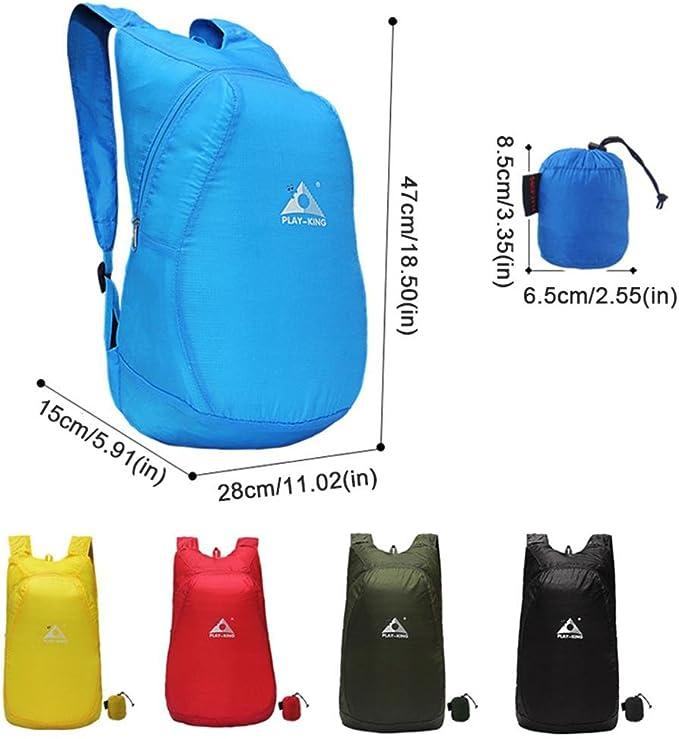 ultra leggero zaino impermeabile da escursionismo zaino pieghevole per viaggi all aperto campeggio escursionismo tascabile Leegoal 20l zaino pieghevole
