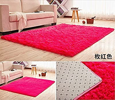 HUAHOO Super Soft Indoor Modern Shag Area Silky Rugs Dining Room Living room Bedroom Rug Baby Nursery Rug Childrens Kids Room Rug Carpet Floor Mat for Home Decorate