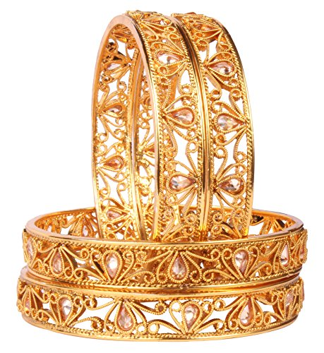 Shiv_Collection Indian Polki Bangle Gold Tone Ethnic Traditional Bollywood Fashion Jewelry