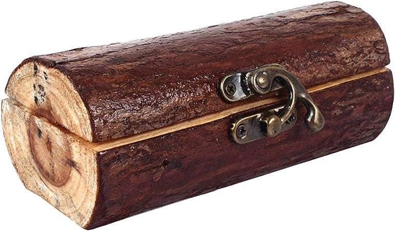 BovoYa - Caja de madera para anillos de boda, diseño retro, con grabado de madera, para anillos de compromiso, con corazón doble, regalo de boda para parejas: Amazon.es: Hogar