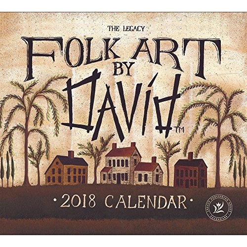 Legacy Publishing Group 2018 12-Month Wall Calendar, Folk Art by David