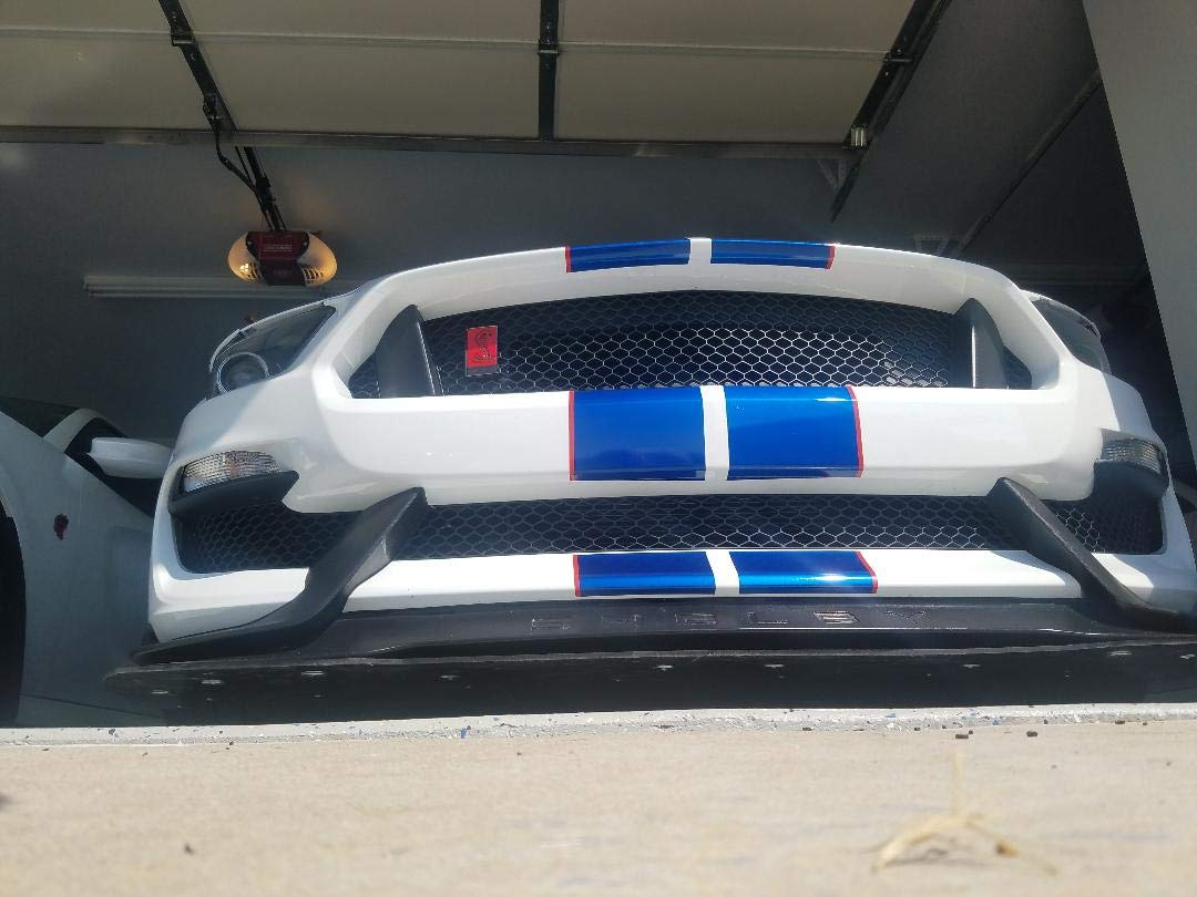 Front ABS Splitter /& 2 support rods for 2015-2019 Shelby GT350s /& GT350Rs