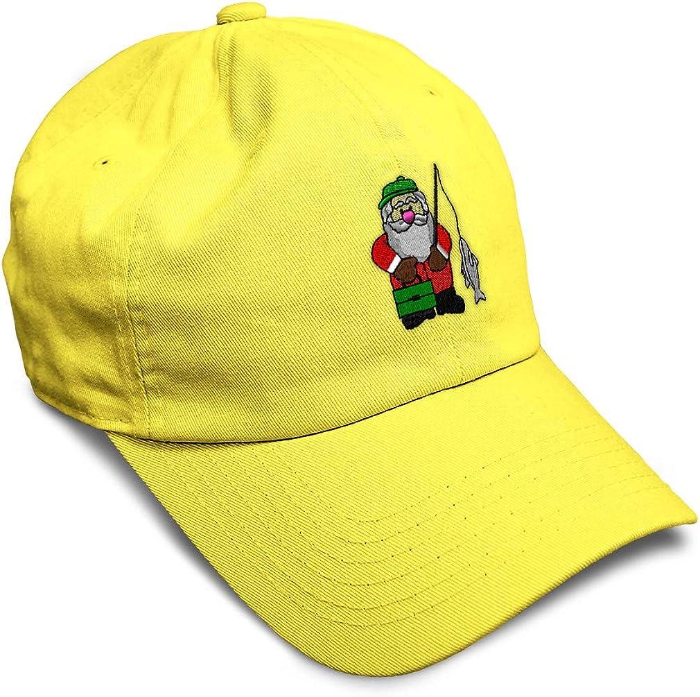 Custom Soft Baseball Cap Santa Fishing Embroidery Dad Hats for Men /& Women