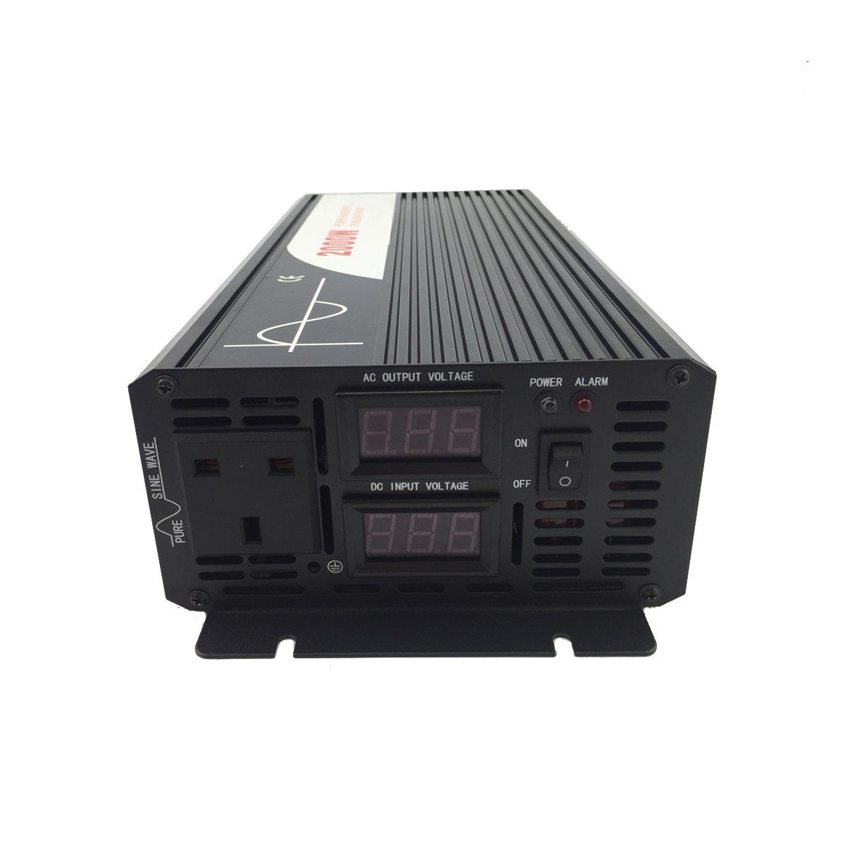 2000 W Pico 4000 W Onda sinusoidal Pura inversor de Corriente DC 12 V 24 V 48 V a AC 220~230 V 50 Hz Solar conversor para Uso en casa Coche DC24V to AC220V XIJIA