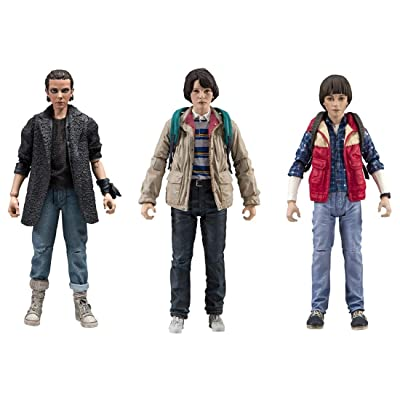 McFarlane Toys Stranger Things Action Figure Series 3 Set of 3 with Punk Eleven, Will Byers, and Mike Wheeler Including Individual Accessories: Toys & Games