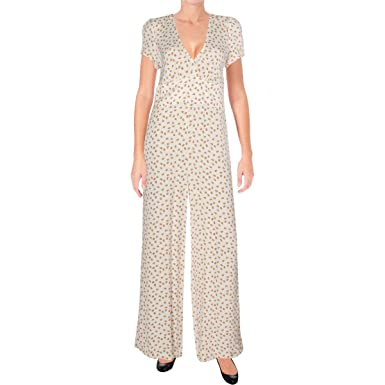 623df72f9ca3 Amazon.com  Free People Womens Mia Empire Waist Wide Leg Jumpsuit  Clothing
