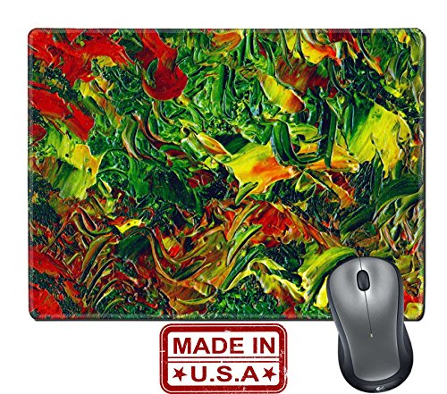 """- Liili Natural Rubber Mouse Pad/Mat with Stitched Edges 9.8"""" x 7.9"""" Picture oil paints abstract background hand paintings Image ID 23297063"""