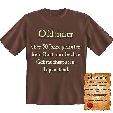Oldtimer Kein Rost Top Zustand Fun T Shirt 50 Geburtstag Tshirt