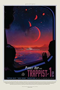 Planet Hop from Trappist 1e NASA Space Travel Cool Wall Decor Art Print Poster 24x36