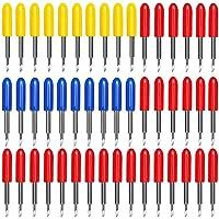 40PCS Replacement Blades for Explore Air/Air 2 Vinyl Cutting Machines, 20PCS 45° Standard + 10PCS 30° + 10PCS 60° Deep…