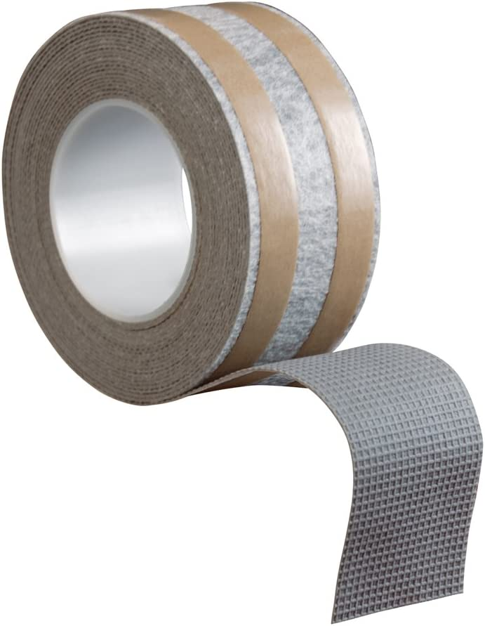 ROBERTS 50-545 2-1/2 Inch by 25 Foot Roll of Rug Traction Indoor Anti-Slip Rug Strip Rubber Tape - Carpet Underlayments -