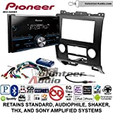 Pioneer MVH-S400BT Double Din Radio Install Kit with Bluetooth USB/AUX Fits 2008-2012 Ford Escape, Mazda Tribute, Mercury Mariner (Black)