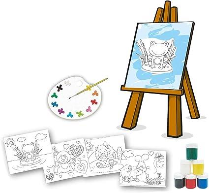 Brinquedo Para Colorir Pequeno Artista Com 04 Telas Brincadeira De
