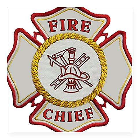CafePress - Fire Chief Firefighting - Square Bumper Sticker Car Decal, 3