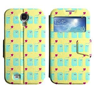 LEOCASE leche linda Funda Carcasa Cuero Tapa Case Para Samsung Galaxy S4 I9500 No.1004769