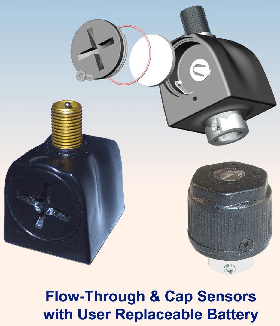 6 Tire Cap Sensor RV/Truck Tire Pressure Monitoring System (TPMS)