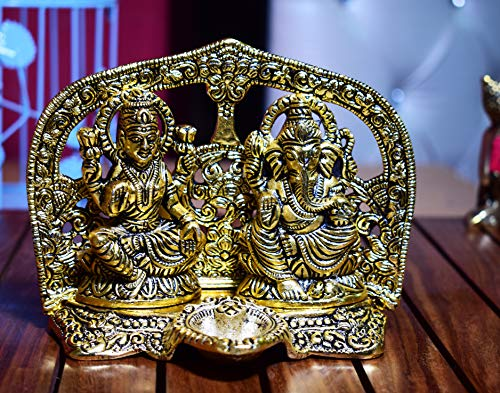 Hashcart Laxmi Ganesh Statue- Gold Plated Especially for Pooja/Home Decor/Gift/Office