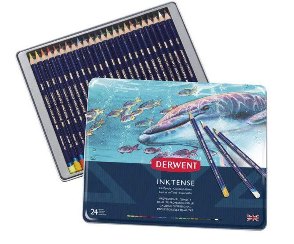 Crayons Watercolor Derwent Inktense (24ks), Derwent, Art Supplies