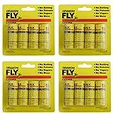 GRAMONI 16PCS Sticky Fly Catcher Trap,Fly Paper Ribbons, Fly Catcher Ribbon,Fly Paper Strips,Fly Trap