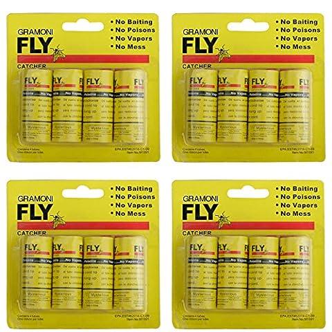 GRAMONI 16PCS Sticky Fly Catcher Trap,Fly Paper Ribbons, Fly Catcher Ribbon,Fly Paper Strips,Fly - Horse Puppet Kit