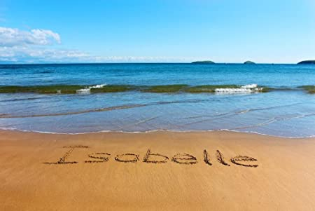 Sand-Writing ISABELLE 14x20 inches (36x51cm) canvas art picture of a ...