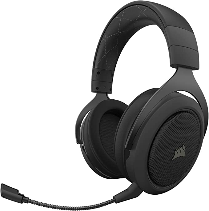 Corsair HS70 Pro Wireless Gaming Headset - 7.1 Surround Sound Headphones for PC - Discord Certified - 50mm Drivers – Carbon