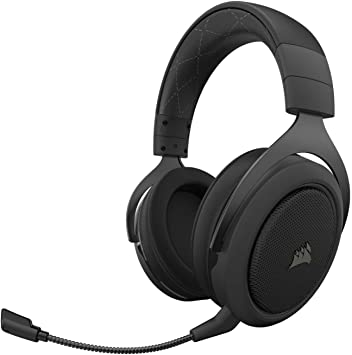 Amazon Com Corsair Hs70 Pro Wireless Gaming Headset 7 1 Surround Sound Headphones For Pc Discord Certified 50mm Drivers Carbon Computers Accessories