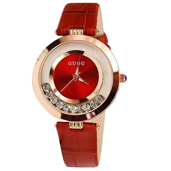 Marca diamantes de imitación y brillantina reloj mujer relojes lujo Rhinestone de la mujer relojes reloj