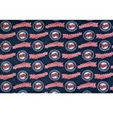 Fabric Traditions MLB Fleece Minnesota Twins Fabric by The Yard, Blue/Red