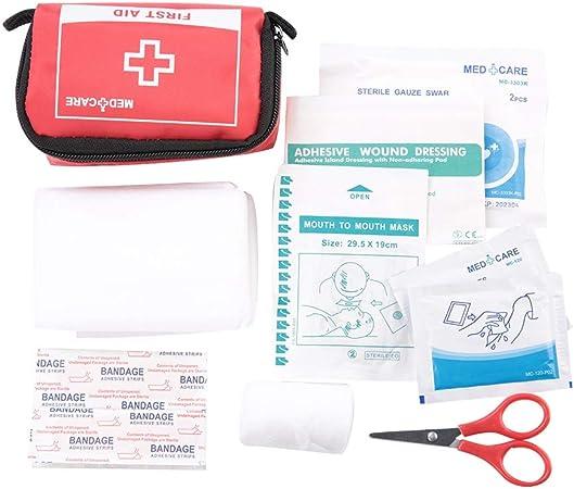 Nunafey Mini botiquín de Primeros Auxilios, Estuche de Emergencia, Senderismo Seguro y Limpio al Aire Libre para la Escuela en casa: Amazon.es: Hogar