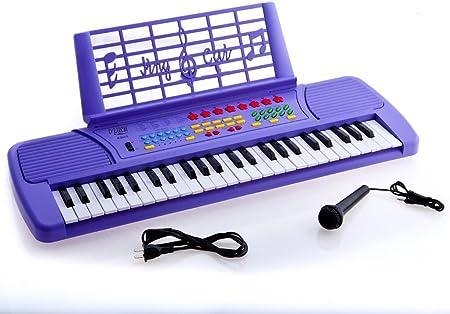 Ellegance niños 49 teclas teclado electrónico con música de ...
