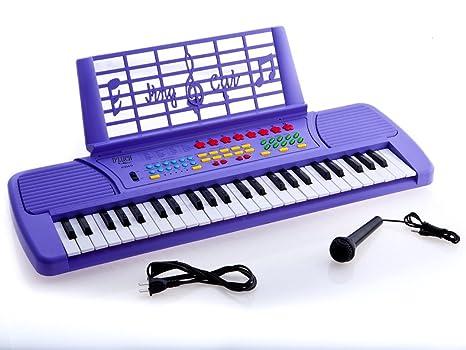Ellegance niños 49 teclas teclado electrónico con música de piano, morado