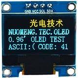 "Homefunny0.96"" I2C IIC シリアル 128×64 OLED LCDディスプレイ に対応 ブルーイエロー フォント"
