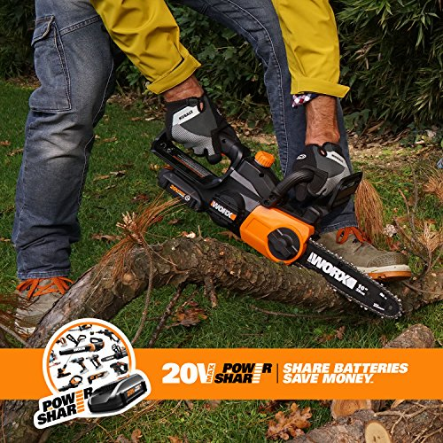 Worx WG322 10-in Cordless 20V Chainsaw with Auto-Tension and Auto-Oiling by Worx (Image #3)