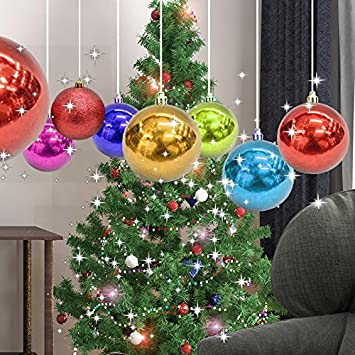 set of 24pcs christmas tree ball ornament purple blue silver with reusable