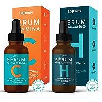 KIT Facial 1 Sérum Vitamina C (Repara, Clareia e Revitaliza) + 1 Sérum Hidratante Ácido Hialurônico (Hidrata, Suaviza e…