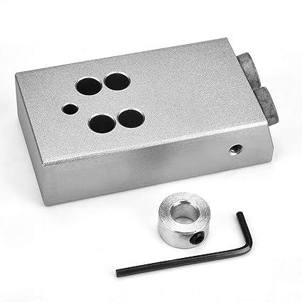 Kit de plantilla de orificio de bolsillo de 15 grados Orificio de perforaci/ón de /ángulo Localizador de carpinter/ía de aluminio Herramientas de mano de madera para taladro