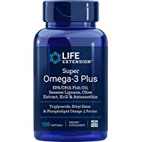 Life Extension Super Omega-3 (Fish Oil) Plus EPA/DHA With Sesame Lignans, Olive...