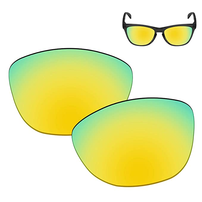 79d9aa4b28 Galvanic Replacement Lenses for Oakley Frogskins Sunglasses - 24k Polarized