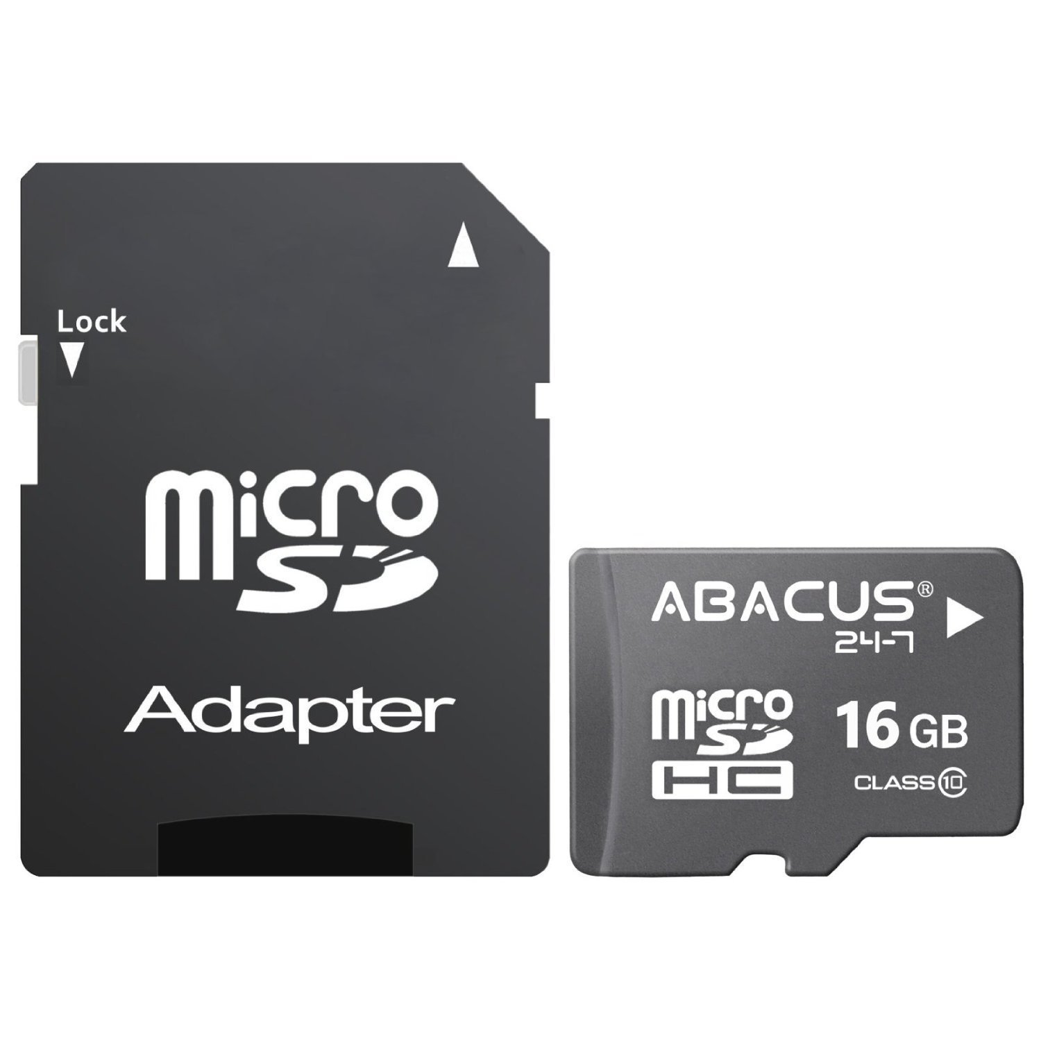 Abacus24-7 16GB micro SD Class 10 Memory Card [SD Adapter] for