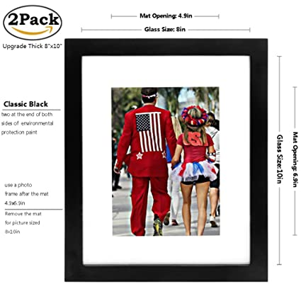 Amazon Lcggdb 8x10 Picture Frames Black 2pack Made To Display