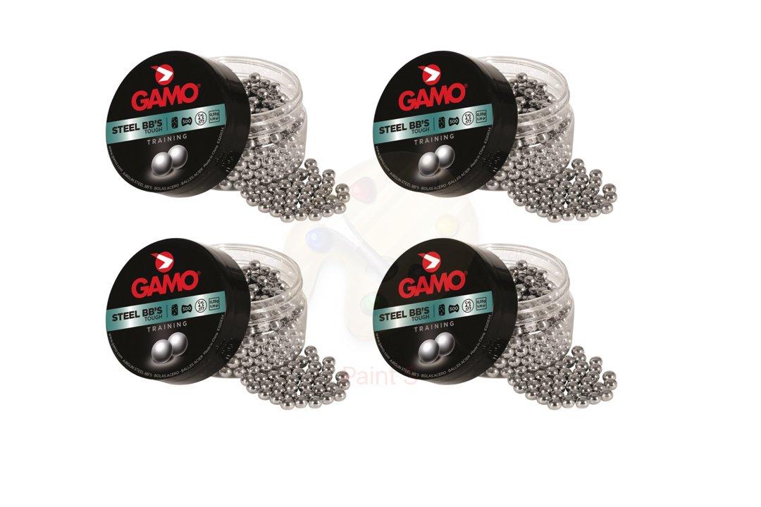 Promohobby Pack 4 latas de 500 perdigones Gamo Steel BB'S (bola de acero) 4, 5mm