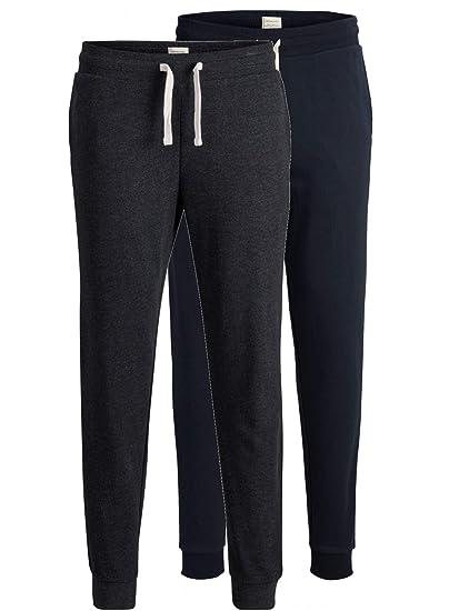 fffc792c3b693f JACK   JONES 2er Pack Set Herren Jogginghosen Sweatpants aus 100% Baumwolle  schwarz