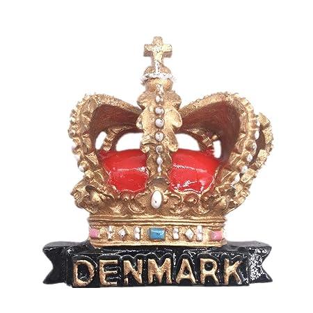 Weekinglo Souvenir Imán de Nevera Dinamarca Corona Nórdica 3D ...