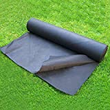 OriginA 2.3 Oz Premium Weed Control Fabric Ground Cover Weed Barrier Eco-Friendly for Vegetable Garden Landscape,Non Woven Fabric, 6x200ft, Black
