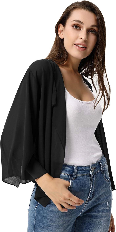 Women Summer Casual Chiffon Bolero Shrug Cardigans Kimono