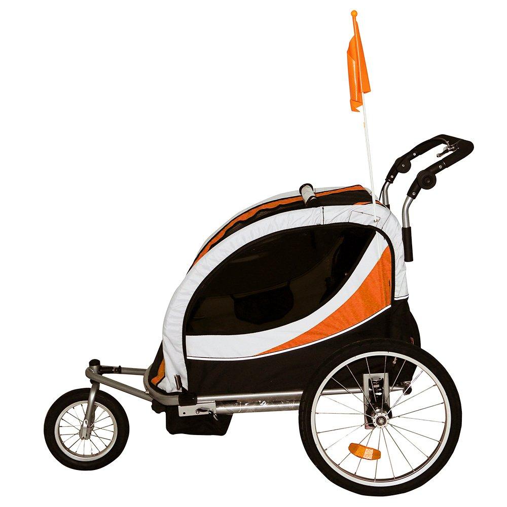 Tiggo Remolque de Bici para Ni/ños Remolque de Bici Remolque de bicileta 802-D03 JBT03N Naranja