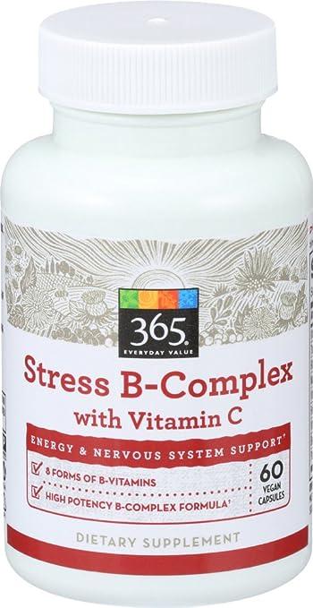 365 Everyday Value, Stress B Complex w Vitamin C, 60 ct