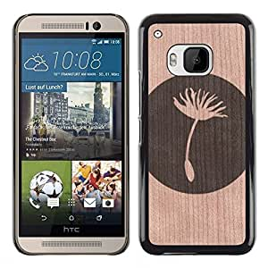 - Flower Seed Life Meaning Deep - - Funda Delgada Cubierta Case Cover de Madera FOR HTC ONE M9 BullDog Case